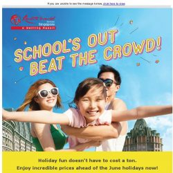 [Resorts World Sentosa] [8-DAY SALE] School's Out, Beat The Crowd!