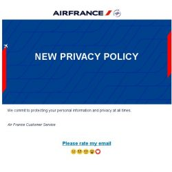 [AIRFRANCE] New Privacy Policy