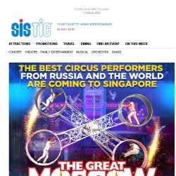 [SISTIC] Exclusive 15% presale discount – The Great Moscow Circus