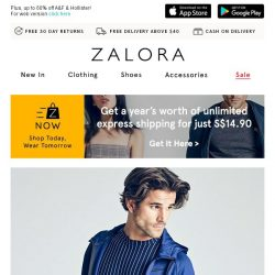 [Zalora] 😱 Take EXTRA 30% off with NO MIN SPEND!