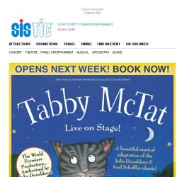 [SISTIC] Book Now for TABBY MCTAT Live on Stage! Only 7 Performances!