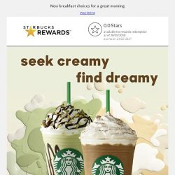 [Starbucks] Seek creamy, find dreamy