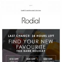 [RODIAL] Last Chance To Save £50   24 Hours Left