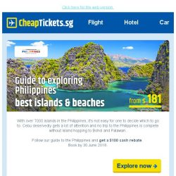 [cheaptickets.sg] 😎The hottest summer sale to Manila, Cebu, Palawan & more from $181