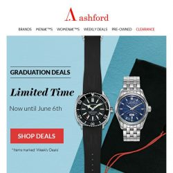 [Ashford] All new watches in our weekly deals
