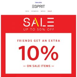 [Esprit] Sign up as an Esprit Friend TODAY to shop our Private Sale!