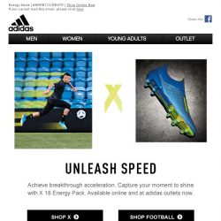 [Adidas] Light Up In The X 18 Energy Mode.