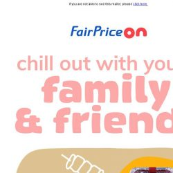 [Fairprice] We all love good time with our loved ones