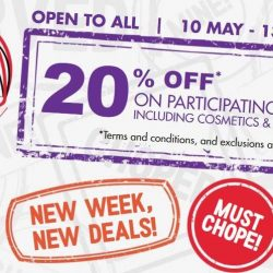 Metro: Open to ALL - 20% OFF on Participating Brands Including Cosmetics & Fragrances!