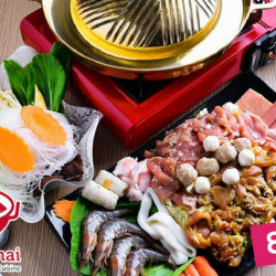 Charcoal Thai: Mookata Lunch / Dinner Set for 1 Person at Only $9!