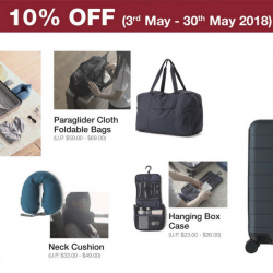 MUJI: Enjoy 10% OFF MUJI to GO Travel Essentials!