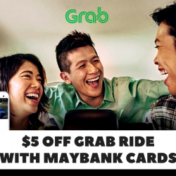 Grab: Get $5 OFF a Grab Ride with Maybank Cards!