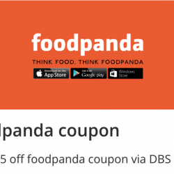 Foodpanda: Grab $5 OFF Coupon via DBS Lifestyle App!