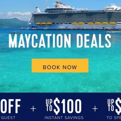 Royal Caribbean: Enjoy 50% OFF Second Guest + Up to $100 Instant Savings + Up to $100 to Spend at Sea!