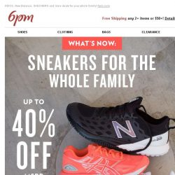 [6pm] Up to 40% off Sneakers for the Family!