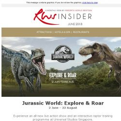 [Resorts World Sentosa] June is the season for Jurassic encounters, summer fun and football fever
