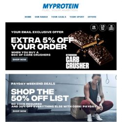 [MyProtein] , Your Exclusive Offer Today!