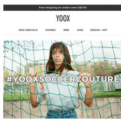 [Yoox] #YOOXSOCCERCOUTURE: discover the exclusive collection