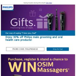 [PHILIPS] Dad deserves something special this year - Sweet deals for Father's Day!