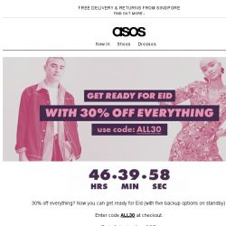 [ASOS] 30% off everything!