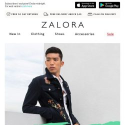 [Zalora] 🚨 3h FLASH SALE: Extra 20% off sitewide - GSS Came Early!