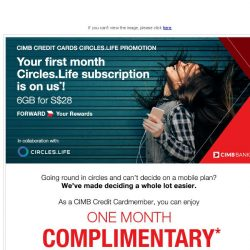 [CIMB] Back by popular request! Your first month Circles.Life subscription is on us!