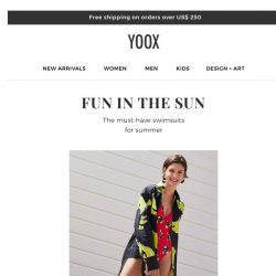 [Yoox]  👙 The swimsuits of your dreams are here!