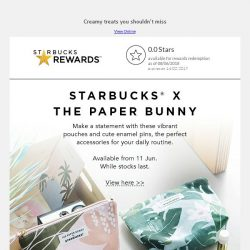 [Starbucks] Starbucks® x The Paper Bunny is here again
