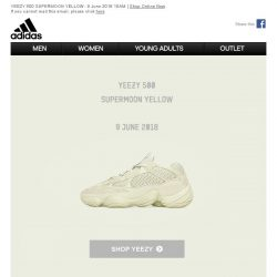 [Adidas] The new YEEZY 500 SUPERMOON YELLOW out today.