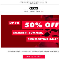 [ASOS] Summer sale just landed – up to 50% off