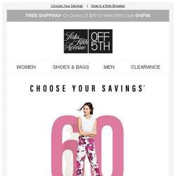 [Saks OFF 5th] Do a number on 60, 70 or 80% OFF! + PRICE DROP Alert: 7 For All Mankind & more!