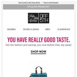 [Saks OFF 5th] Items from Robert Graham & more caught your eye...get them before they're gone!
