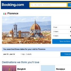 [Booking.com] Prices in Florence dropped again – act now and save more!