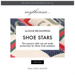 [mytheresa] 👟Exclusive 24-hour Shoe Club pre-shopping: The shoe stars of the season are here...
