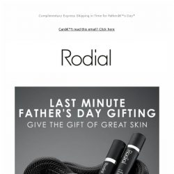 [RODIAL] Father's Day Gifting: It's Not Too Late