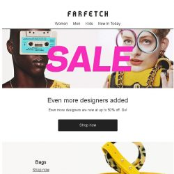 [Farfetch] Even more designers added to the Sale