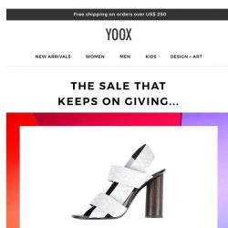 [Yoox] The SALE that keeps on giving...