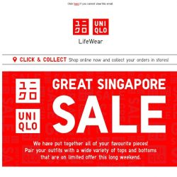 [UNIQLO Singapore] Can't get enough of these sales