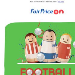 [Fairprice] ⚽ Here's $10 off to get you ready for big kick off!