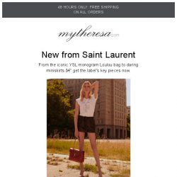 [mytheresa] Saint Laurent FW18 + new designers added – sale up to 60% off