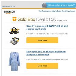 [Amazon] Save 31% on select DEWALT drill kit and...