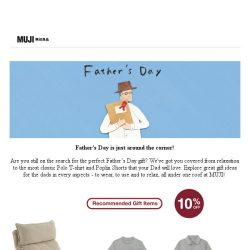 [Muji] Fancy a MUJI Gift for Dad?