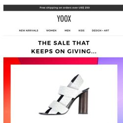 [Yoox] It's about to end: EXTRA 20% OFF the SALE