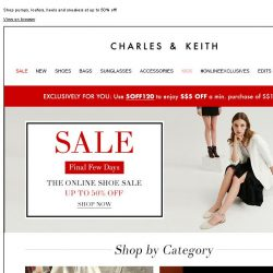 [Charles & Keith] FINAL FEW DAYS | The Online Shoe Sale