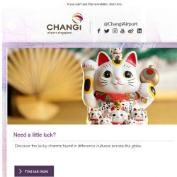 [Changi Airport] , want to win a pair of tickets AROUND THE WORLD?
