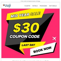 [Zuji] BQ.sg: Last Day to use your $30 Flight Coupon