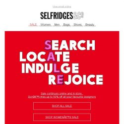b9f2ae61fe3ac Up to 50% off at Selfridges