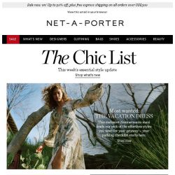 [NET-A-PORTER] Your hero vacation piece is here