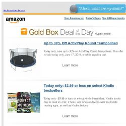 [Amazon] Up to 30% Off ActivPlay Round Trampolines