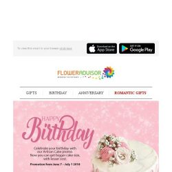 [Floweradvisor] Happy Monday, grab 15% off for these very special cakes!